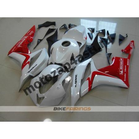 Комплект Мотопластика Honda CBR600rr 07-08 Бело-красный.