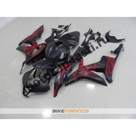 Комплект мотопластика Honda CBR600RR 07-08 Матовый Красно-Черный.