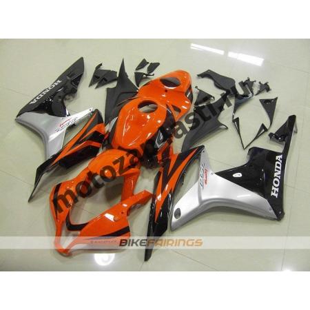 Комплект Мотопластика Honda CBR600RR 07-08 Черно-серо-оранжевый.