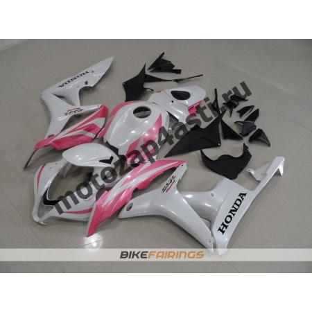 Комплект Мотопластика Honda CBR600rr 07-08 Бело-розовый.