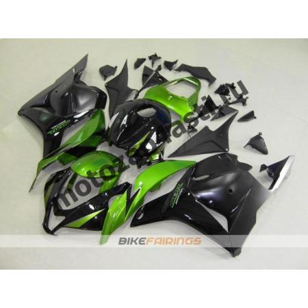 Комплект Мотопластика Honda CBR600rr 09-12 Зелено-Черный.