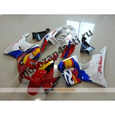 Комплект пластика Honda CBR900RR 96-97 Красно-бело-желто-синий.