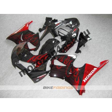 Комплект пластика Honda CBR900rr 98-99 Черный с красным огнем.