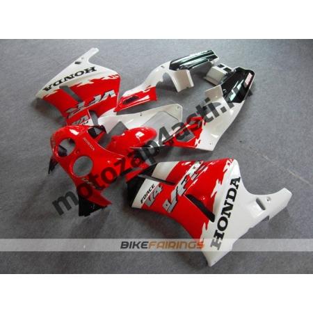 Комплект пластика Honda RVF400 Черно-бело-красный.