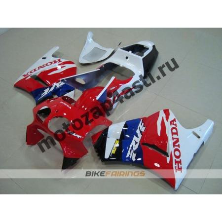 Комплект пластика Honda RVF400 Бело-красно-сине-черный.