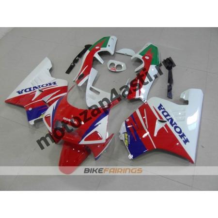 Комплект Мотопластика Honda NSR250 MC21 Красно-Бело-Сине-Зеленый-1.