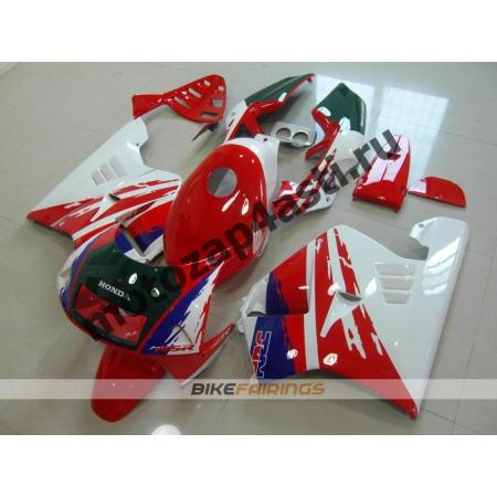 Комплект Мотопластика Honda NSR250 MC21 Красно-Бело-Сине-Зеленый-2.