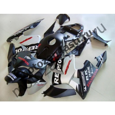 Комплект Мотопластика Honda CBR600RR 03-04 Серо-черный Repsol