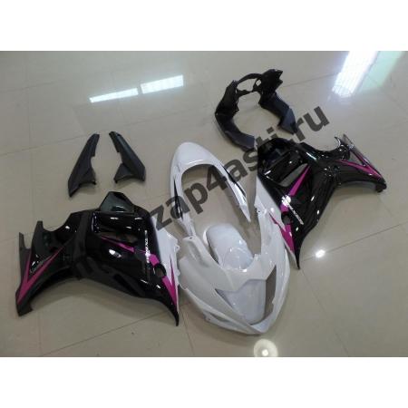 Комплект пластика Suzuki GSXR650F 08-13 Бело-черный