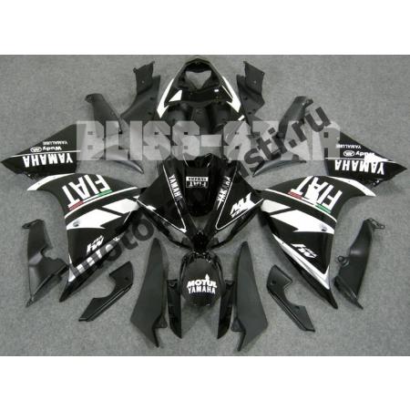 Комплект Мотопластика Yamaha R1 09-12 Fiat Черно-Белый