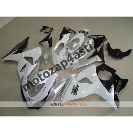 Комплекты пластика Suzuki GSXR1000 09-13 Бело-Черный.