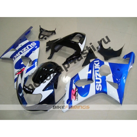Комплекты пластика Suzuki GSXR1000 00-02 Бело-Сине-Черный.