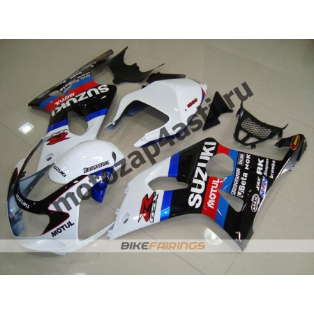 Комплекты пластика Suzuki GSXR1000 00-02 Бело-Красно-Сине-Черный.