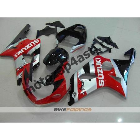 Комплекты пластика Suzuki GSXR1000 00-02 Красно-Черно-Серебристый-1.