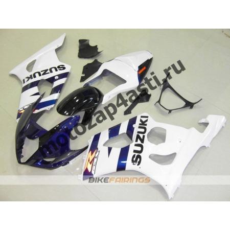 Комплекты пластика Suzuki GSXR1000 03-04 Бело-Сине-Черный.