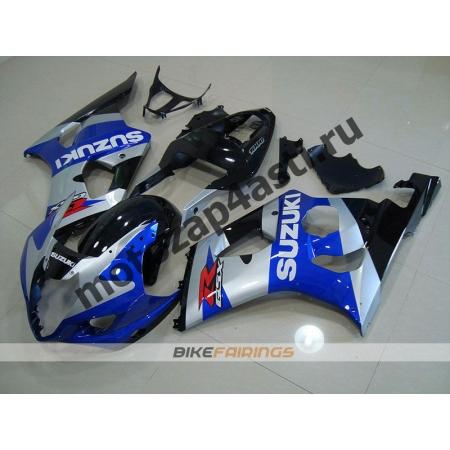 Комплекты пластика Suzuki GSXR1000 03-04 Серо-Сине-Черный.
