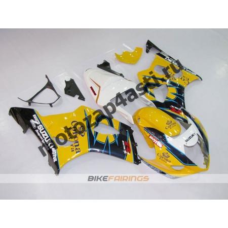 Комплекты пластика Suzuki GSXR1000 03-04 Бело-Желто-Черный.