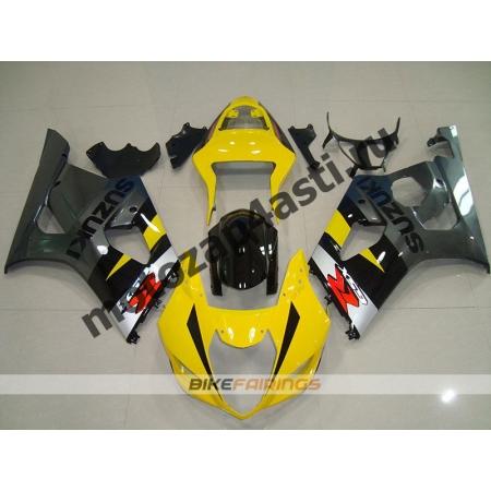 Комплекты пластика Suzuki GSXR1000 03-04 Серо-Желто-Черный.