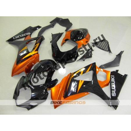 Комплекты пластика Suzuki GSXR1000 07-08 Черно-оранжевый.
