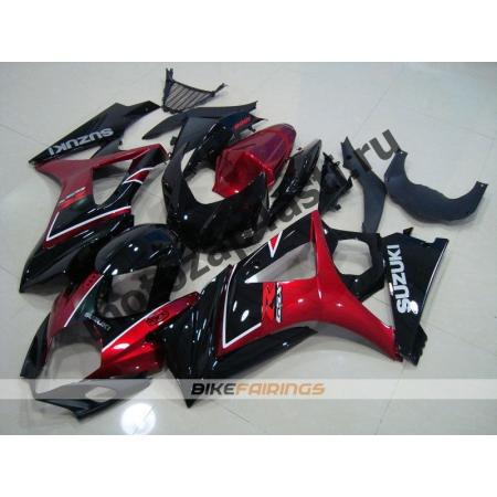 Комплекты пластика Suzuki GSXR1000 07-08 Черно-красный.