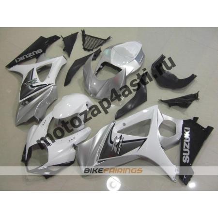 Комплекты пластика Suzuki GSXR1000 07-08 Бело-Серый.