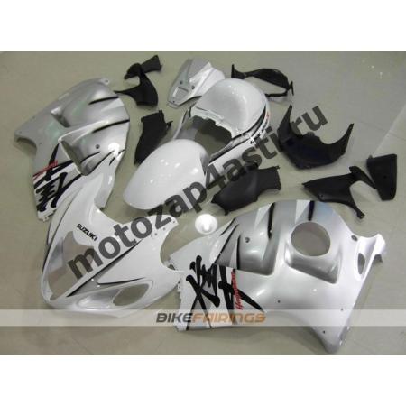 Комплекты пластика Suzuki GSXR1300 HAYABUSA 99-07 Бело-Серебристый.