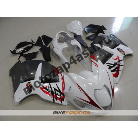 Комплекты пластика Suzuki GSXR1300 HAYABUSA 99-07 Бело-Серый.