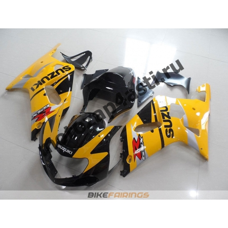 Комплект мотопластика Suzuki GSXR600-750 01-03,GSXR1000 00-02 Черно-желтый-1.