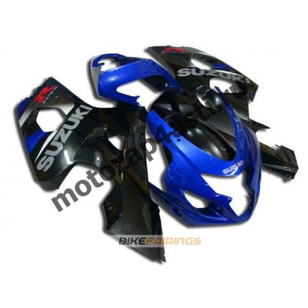 Комплект пластика Suzuki GSXR600-750 04-05 Черно-синий.