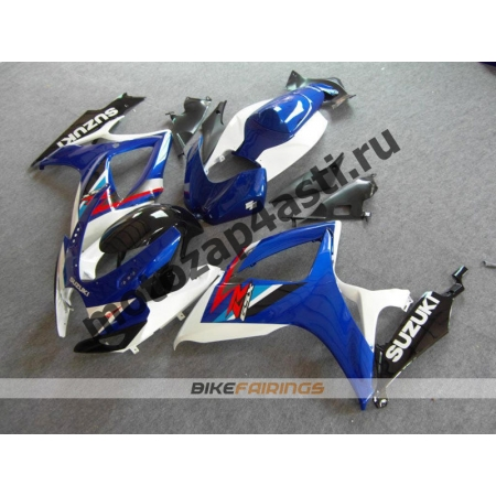 Комплекты пластика Suzuki GSXR600-750 06-07 Бело-синий.