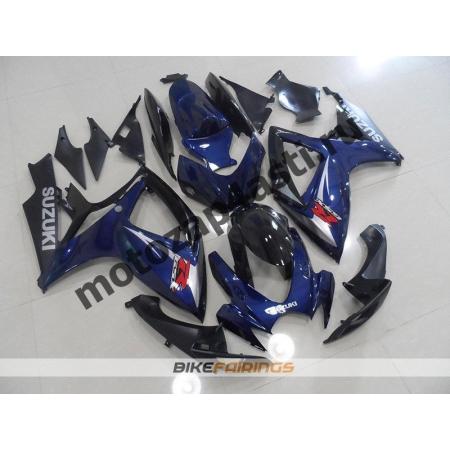 Комплекты пластика Suzuki GSXR600-750 06-07 Сине-Черный-3.