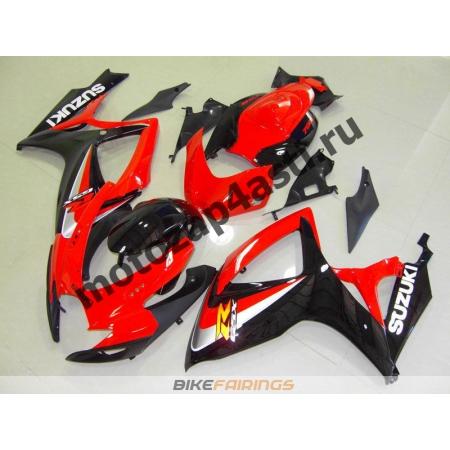 Комплекты пластика Suzuki GSXR600-750 06-07 Красно-Черный.