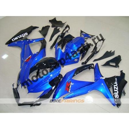 Комплекты пластика Suzuki GSXR600-750 08-09 Черно-синий.