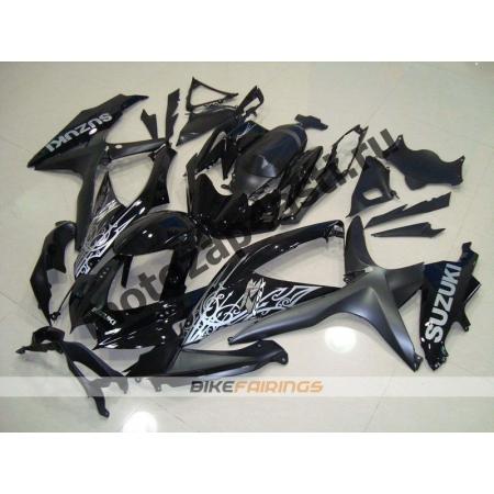 Комплекты пластика Suzuki GSXR600-750 08-09 Черно-серый.