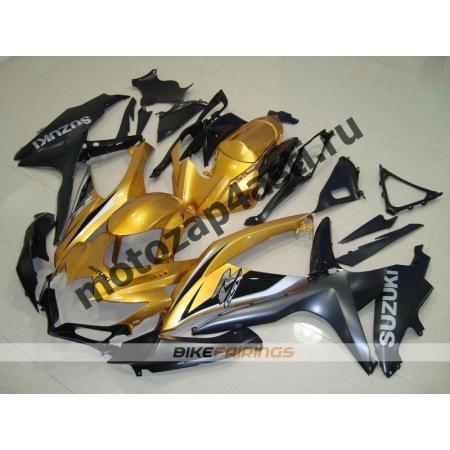 Комплекты пластика Suzuki GSXR600-750 08-09 Черно-серо-золотой.