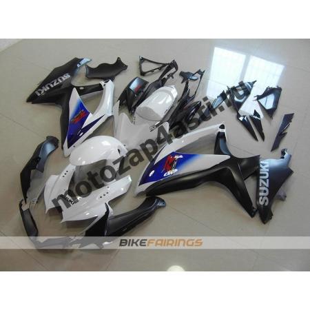 Комплекты пластика Suzuki GSXR600-750 08-09 Черно-белый-1.