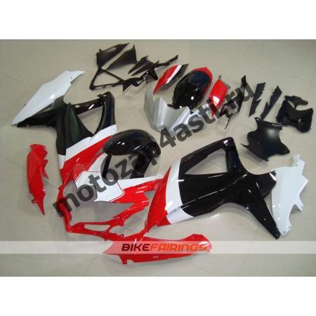 Комплекты пластика Suzuki GSXR600-750 08-09 Черно-бело-красный.