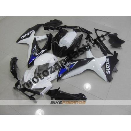 Комплекты пластика Suzuki GSXR600-750 08-09 Черно-белый-2.
