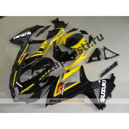 Комплекты пластика Suzuki GSXR600-750 08-09 Черно-желтый-1.