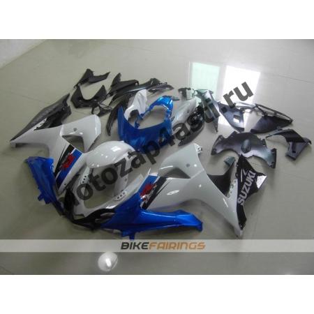 Комплекты пластика Suzuki GSXR600-750 11-13 Бело-черно-синий-2.