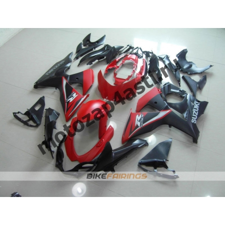 Комплекты пластика Suzuki GSXR600-750 11-13 Красно-черный-2.