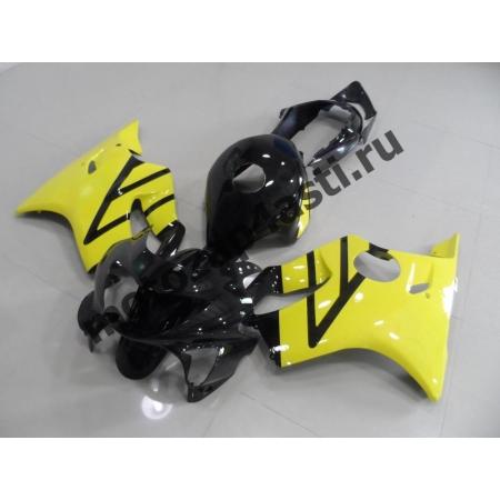 Комплект пластика Honda CBR600F4 98-00 Черно-Желтый-1.