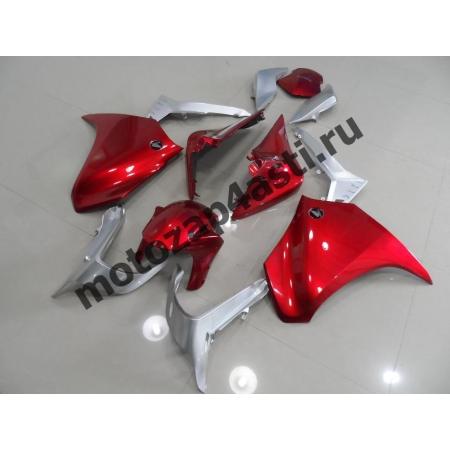 Комплект мотопластика Honda VFR1200 10-14  Красно-Серебристый.