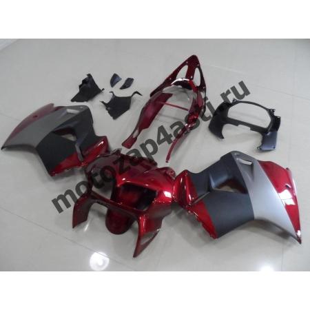 Комплект мотопластика Honda VFR800 98-01  Красно-Серо-Черный.