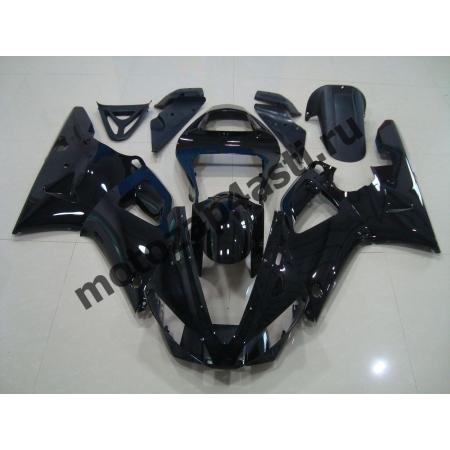 Комплект Пластика Yamaha R1 00-01 Черный глянцевый без наклеек