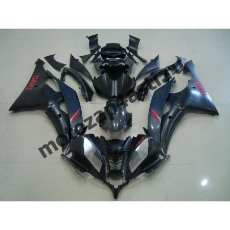 Комплект Пластика Yamaha R6 08-16 Черный матовый с красными наклейками