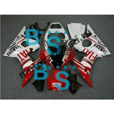 Комплект Мотопластика Yamaha R6 03-05 Бело-красный Fiat