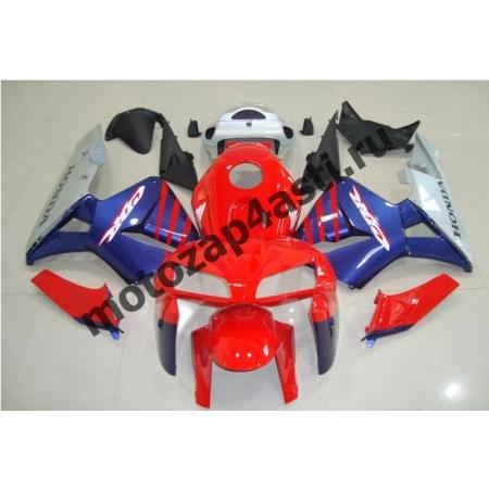 Комплект Мотопластика Honda CBR600RR 03-04 Красно-Сине-Серый