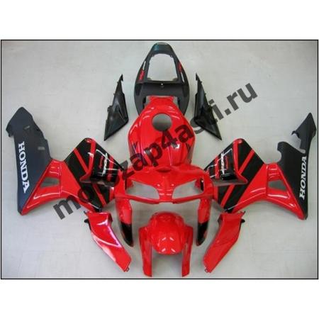 Комплект Мотопластика Honda CBR600RR 05-06 Красно-Черный-1.
