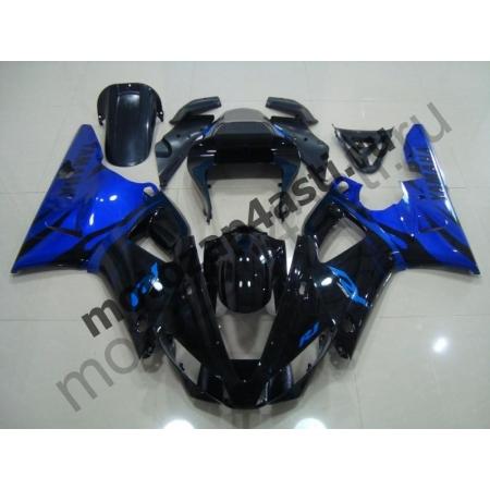 Комплект Мотопластика Yamaha R1 98-99 Черно-Синий